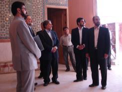 دیدار مهندس عبدالمجید ریاضی؛ معاون فناوری اطلاعات وزارت ارتباطات و فناوری اطلاعات با مدیرعامل و معاونین موسسه اهل البیت؛ 1385/05/03