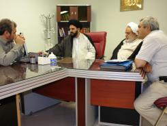 دیدار حجت الاسلام و المسلمین حاج شیخ حسین انصاریان با معاونین مؤسسه اهل البیت
