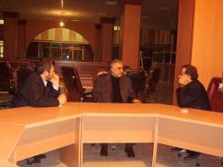 دیدار دکتر محمد اسدی گرمارودی با مدیرعامل و معاونین مؤسسه اهل البیت، 1383/09/03