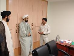 دیدار مدیر مرکز تحقیقات کامپیوتری علوم اسلامی قم با مدیرعامل و معاونین موسسه؛ کتابخانه دیجیتالی