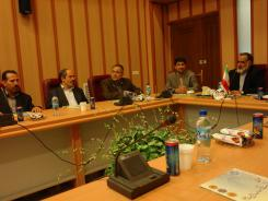 جلسه دکتر غلامرضا قربانی و هیات رئیسه با مدیرعامل و معاونین مؤسسه اهل البیت