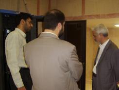دیدار جناب آقای علی محمد رجالی مؤسس و بنیانگذار پتروشیمی رجال با مدیرعامل و معاونین موسسه اهل البیت؛ 1385/07/23