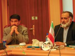جلسه جناب آقای دکتر غلامرضا قربانی و هیات رئیسه با  با مدیرعامل و معاونین مؤسسه اهل البیت