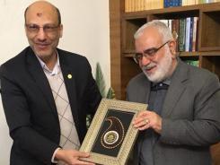 دیدار مدیرعامل موسسه به همراه ریاست دانشگاه صنعتی اصفهان با قائم مقام تولیت آستان قدس رضوی