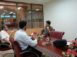 دیدار آقای امینی از مؤسسه اشراق با معاونین موسسه اهل البیت