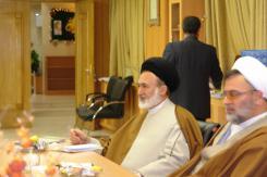 دیدار حجت الاسلام و المسلمین سید علی قاضی عسکر با مدیرعامل موسسه اهل البیت؛ 1387/05/17