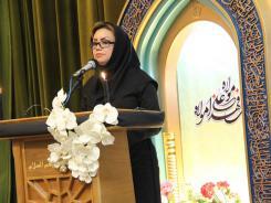 شعرخوانی شاعره اصفهانی مریم مقدم در سومین شب شعر مناجات با خدا و  سوگ علی(ع)
