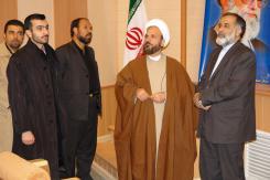 دیدار حجت الاسلام و المسلمین عراقی با مدیرعامل و معاونین مؤسسه اهل البیت