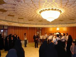 بازدید جمعی از مسئولین دانشگاه علوم حدیث از موسسه اهل البیت