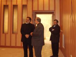 دیدار دکتر محمد اسدی گرمارودی با مدیرعامل و معاونین و بازدید از تالار علامه مجلسی اهل البیت