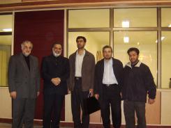 دیدار دکتر محمد اسدی گرمارودی با مدیرعامل و معاونین و بازدید از سالن دیجیتالی کتابخانه اهل البیت