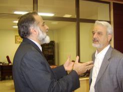 دیدار دکتر علی محمد رجالی با مدیرعامل و معاونین موسسه اهل البیت؛ 1385/07/23