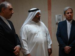 دیدار شیخ عبدالله النجمه از قطر با مدیرعامل و معاونین موسسه؛ 1389/06/31