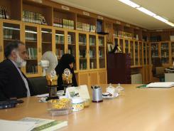 دیدار سید باقر پیشنمازی؛ مدیر شبکه قرآن و معارف سیما با مدیرعامل و معاونین موسسه اهل البیت؛ 1389/09/09