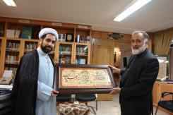 دیدار حجت الاسلام و المسلمین دکتر جواد ادبی با مدیرعامل مؤسسه اهل البیت