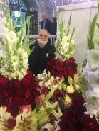 تصویربرداری قبل از تعویض گل های مضجع شریف حضرت علی بن موسی الرضا(ع) در تاریخ 1397/01/06